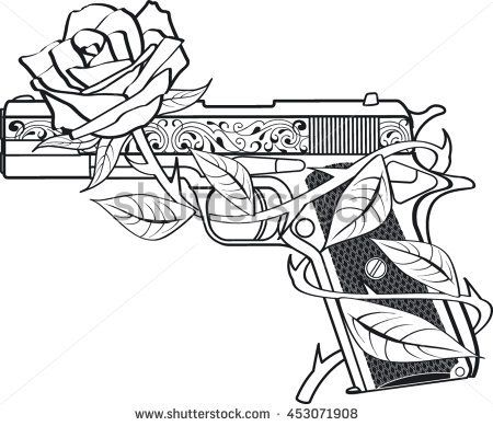 Image Result For Guns And Roses Drawing Tattoo Coloring Book Graffiti Drawing Skull Coloring Pages