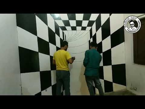 3d Wall Painting Amazing Wall Painting Illusion Wall Art Youtube 3d Wall Painting 3d Art Painting Wall Paint Designs