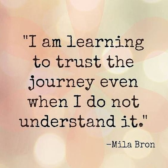 I am learning to trust the journey even when I do not understand it.  #quotes #trust