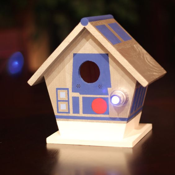 Well...not in my house...cause then how would the birdies get all the beef jerky I'm putting out for em?  Hand Painted R2D2 Birdhouse  by NirdHaus on Etsy, $60.00