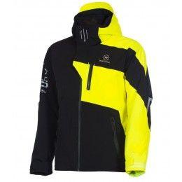 Rossignol racing star jacket veste de ski noir et jaune fluo   sportinlove 2015