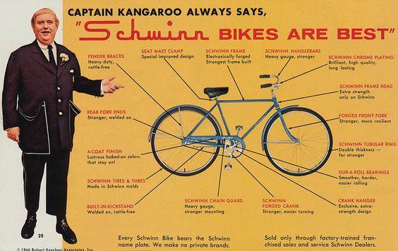 Captain Kangaroo Always Says Schwinn Bikes Are Best by The Pie Shops, via Flickr