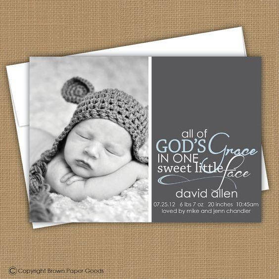 modern baby boy birth announcement custom photo card photo baby – Baby Boy Birth Announcement Wording