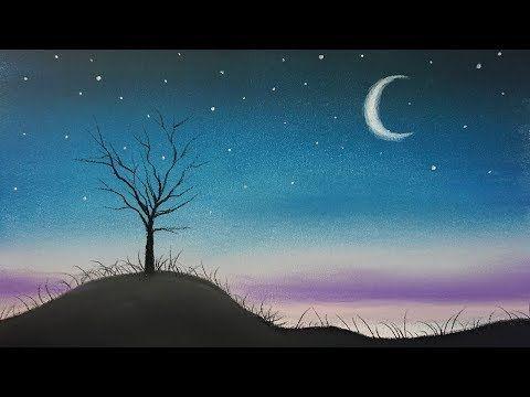 Como Dibujar Un Paisaje De Noche Sencillo Al Pastel Paso A Paso Tutorial Youtube Paisajes De Noche Paisajes Paisaje Para Pintar