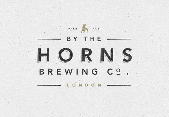 Brand Identity for By The Horns Brewing Co. #modern #traditional