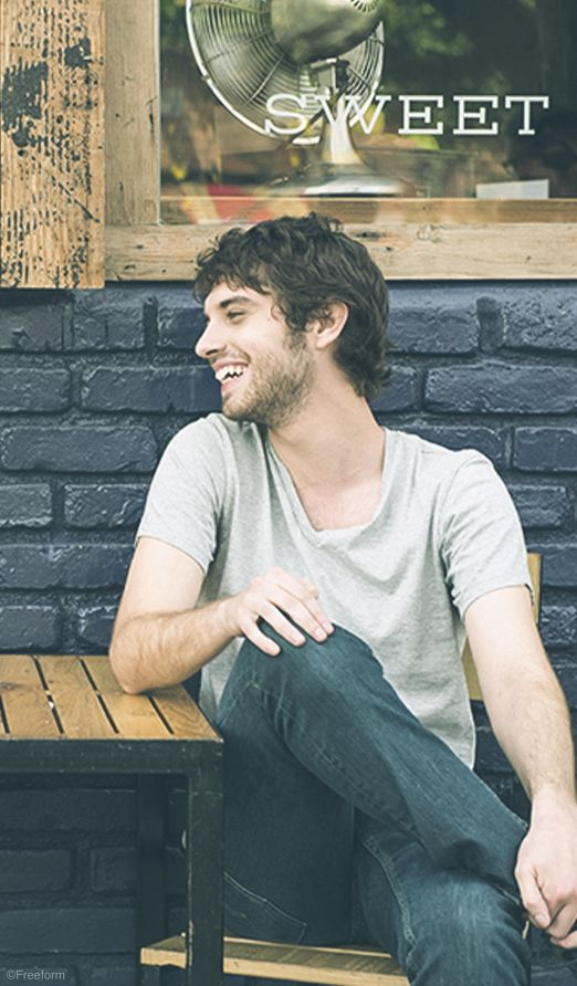 Life is better when you can learn to laugh at yourself. // David Lambert stars as Brandon in The Fosters.