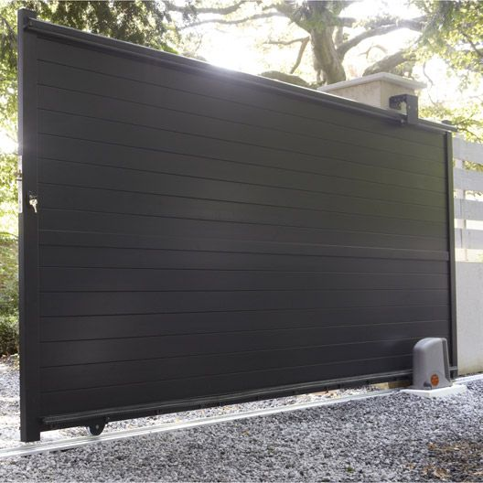 Portail Coulissant Aluminium Jena Gris Anthracite 350x170cm Home Pinterest Jena And Ps