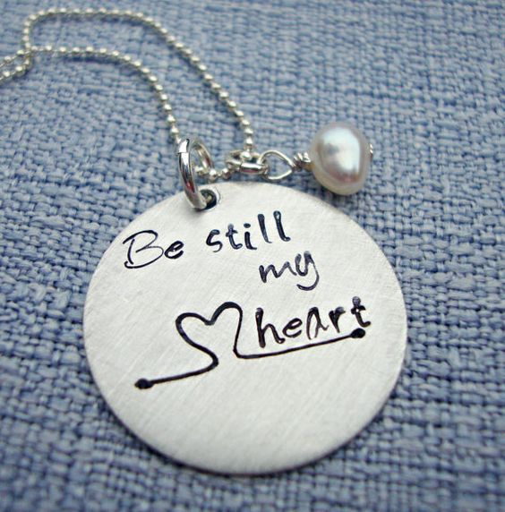 Personalized Hand Stamped Handstamped Heart by 3LittlePixiesShoppe, $58.00