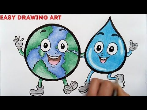How To Draw Save Water Save Earth Poster Drawing World Water Day Drawing For Kids Youtube Save Water Poster Drawing Poster Drawing Save Water Drawing