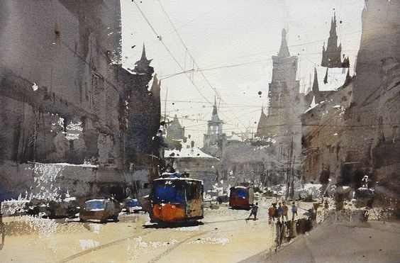 Chien Chung-Wei     Demo today, 1.6 hr ,37 x 56 cm ,maybe not finish yet , but .. not bad now.