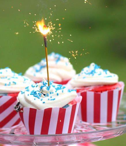 #4thofJuly Sparkler Cupcake:
