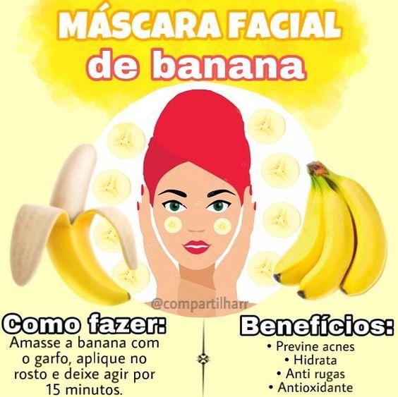 🍌A banana, além de ser minha fruta favorita, é maravilhosa para a pele, ajudando em diversos problemas.🍌 . ✨Benefício