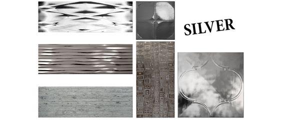 silver tiles   silver walls   glossy finish   revestimientos de altos brillos