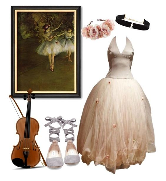"""""""Recital🌹"""" by parnett ❤ liked on Polyvore featuring Vera Wang, Steve Madden, Rock 'N Rose and Anissa Kermiche"""