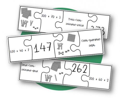Numération - Jeu du puzzle  Excellent jeu de numération ! via Haddock