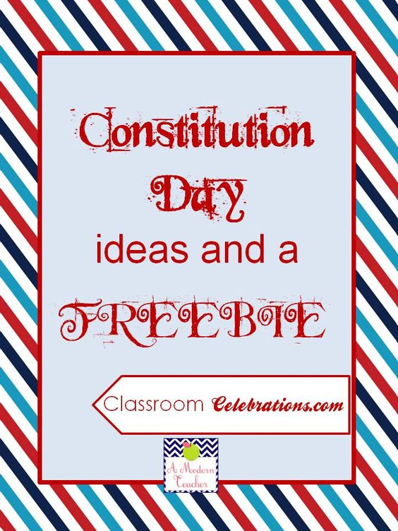 Constitution Day Ideas and a Freebie