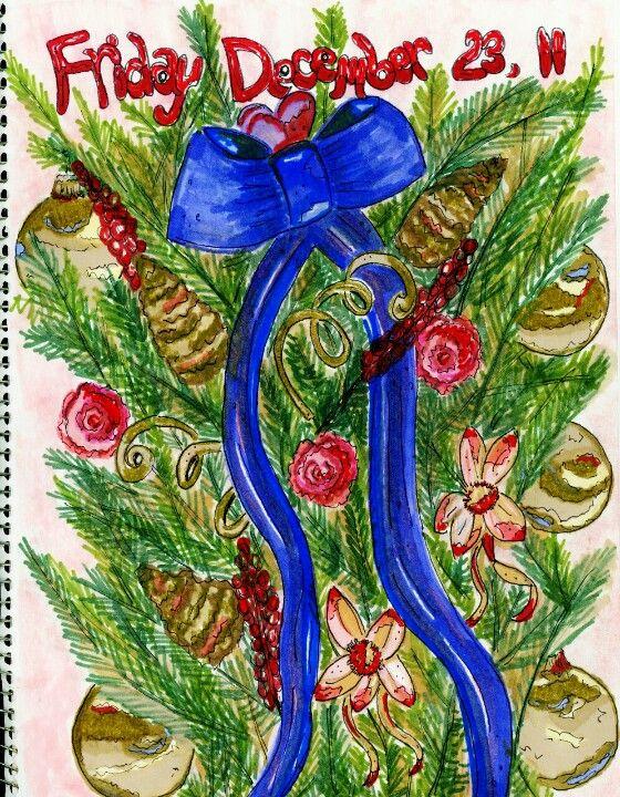 #Donnagauntlett #artjournaling #Christmastree