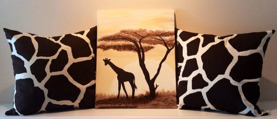 Decorative Throw Pillows in Giraffe Print with by DeMayDesigns, $125.00