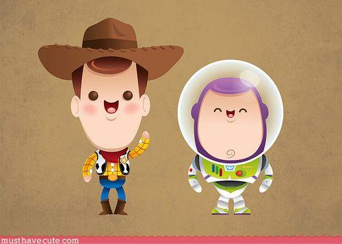 Chibi Woody & Buzz Lightyear!