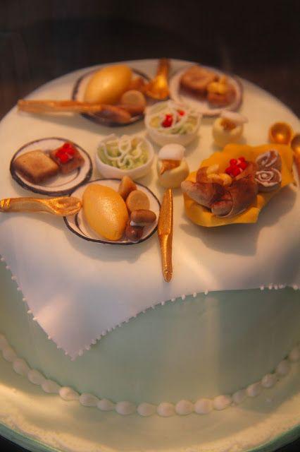 Sweet Kyoto on eatspeakjl.blogspot.com - cake decorated as a breakfast table