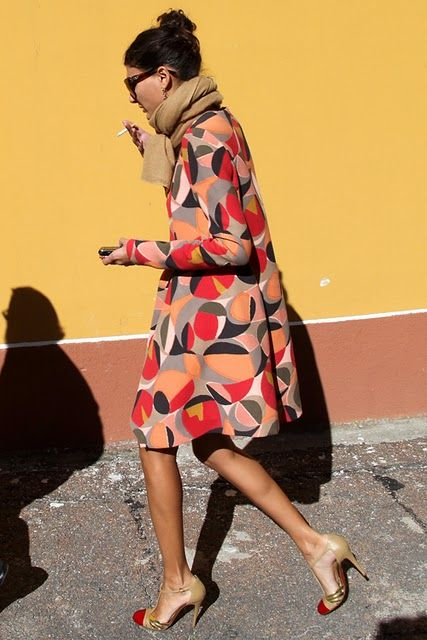 In the Street Style, Giovanna Batagglia via Cool & Chic (ignore the cigarette!):