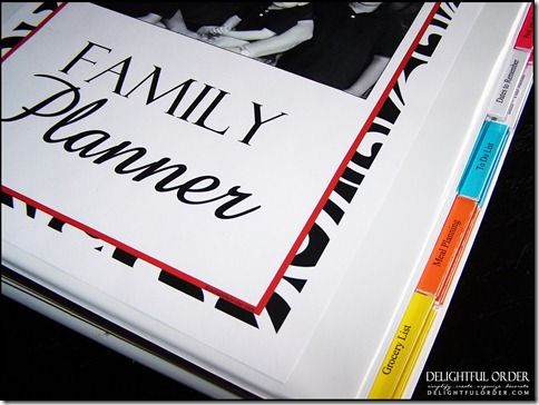 It's the All-in-One Family Planner. All you have to do is print the 24 pages, pop some holes into the pages, place into a binder and you've got complete organization for your family.