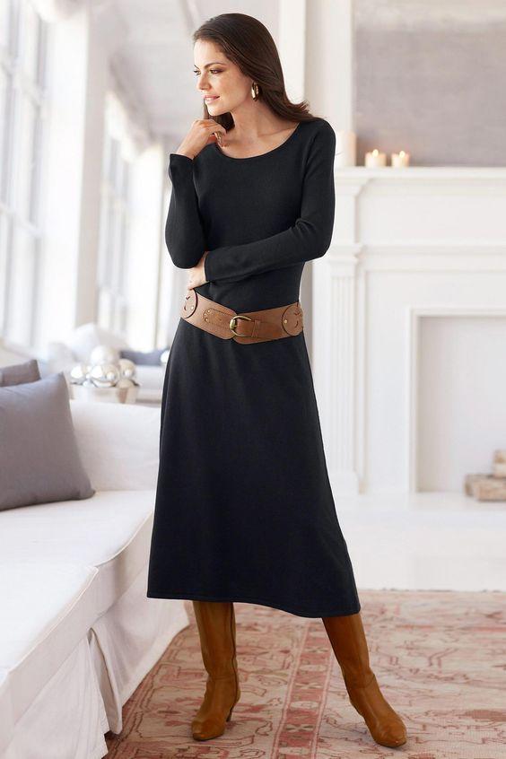 Long Sweater Dress  Love it !!  Pinterest  Dresses Sweaters ...