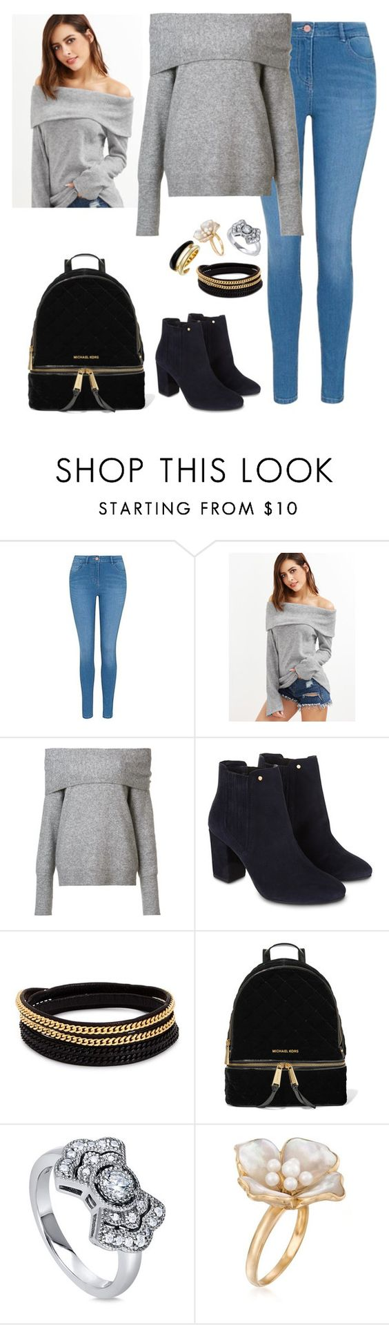 """""""you can everything..."""" by cecilialukas ❤ liked on Polyvore featuring George, Yigal AzrouÃ«l, Monsoon, Vita Fede, MICHAEL Michael Kors, BERRICLE, Ross-Simons and Michael Kors"""