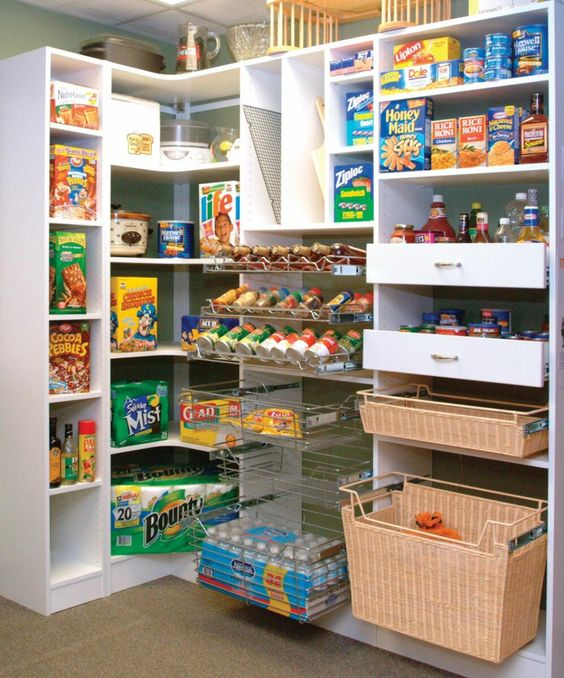 Shelving Ideas For Pantry Corner Pantry Shelving Systems: Pantry Storage. Wish They Were Taller But Like The Pull