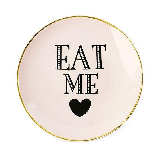 Plato de cerámica rosa Eat Me