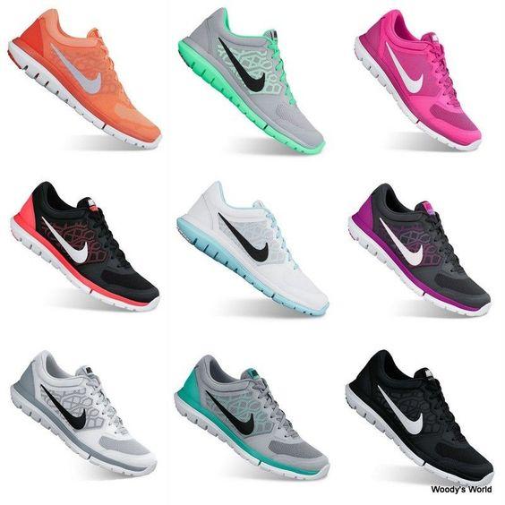 Nike Flex Run 2015 Women's Running Shoes Sneakers NEW!!! Black and White! #Nike #RunningCrossTraining