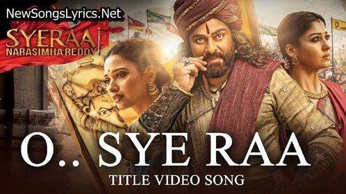 Sye Raa Song Lyrics Sye Raa Narasimha Reddy Sunidhi Chauhan Mp3 Song Download Song Hindi Songs