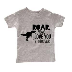 Roar Means I Love You, Dinosaur Tee for Boys: