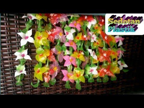 Tutorial Bunga Gantung Hiasan Dinding Bunga Sedotan Plastik