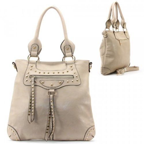 Buy New: $41.99: Balenciaga Style Spikes / Tassels Purse and Bag / Handbag / Grey / Rchmmsbg98229gry
