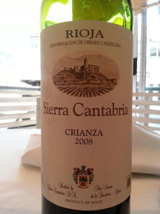 Sierra Cantabria Rioja DOC Crianza 2008 Spain  87 Points Sommelier #MiguelChan  #southafrica #wine #spain #rioja #tempranillo #crianza