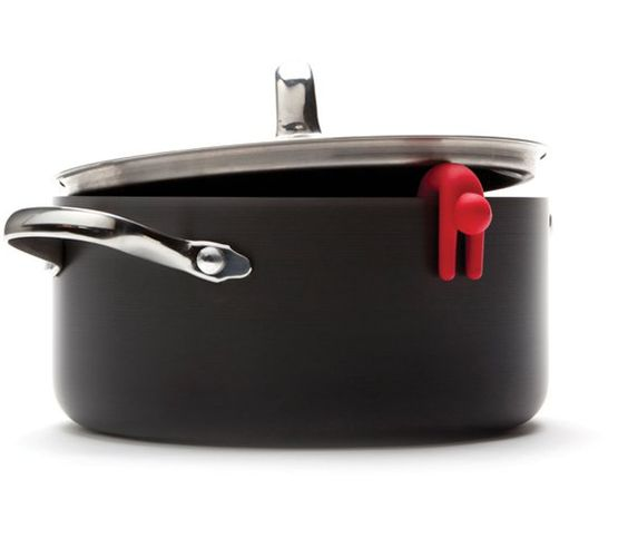 Lid Sid is a little man shaped device that lifts the pot lid off the pot so that the steam can be released