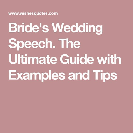 The 25+ best Bride speech examples ideas on Pinterest Bride - welcome speech example