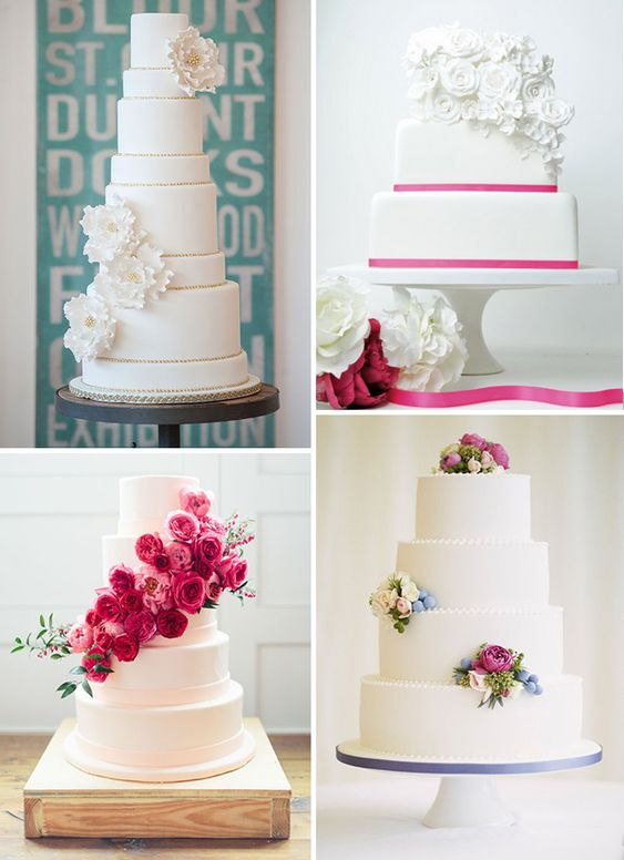 An Old Classic Revived - White Wedding Cakes Are Back  White Wedding ...