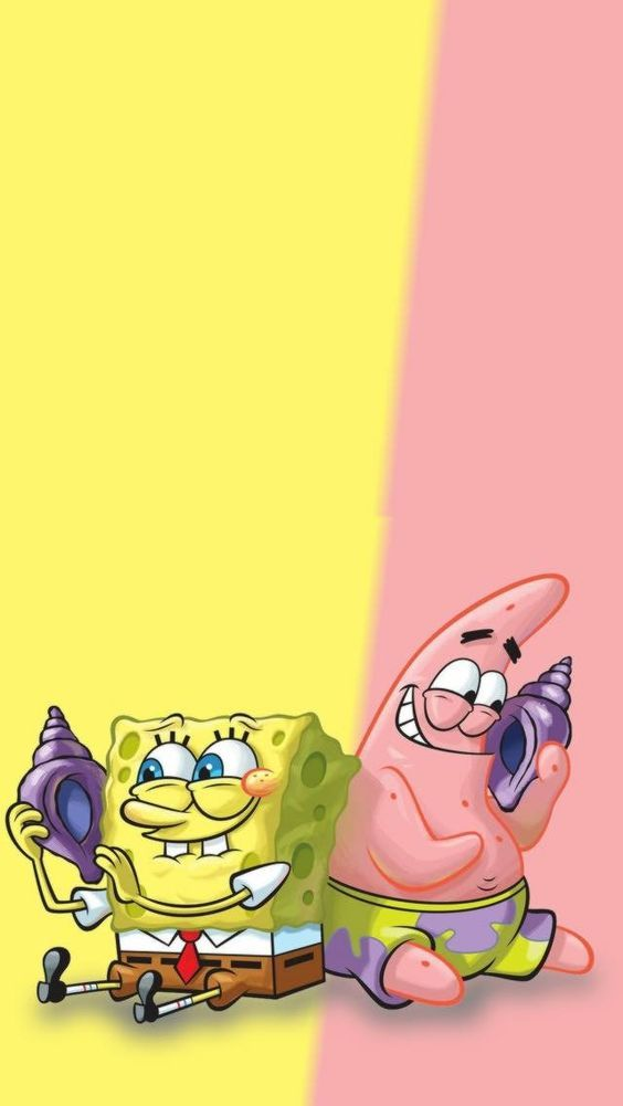 Sponge Bob Square Pants And Patrick Phone Wallpaper Lock Screen