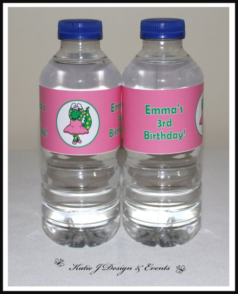 Water Bottle Labels #Dorothy #Dinosaur #Wiggles #Birthday #Bunting #Party #Ideas #Decorations #Ideas #Banners #Cupcakes #WallDisplay #PopTop #JuiceLabels #PartyBags #Invites #KatieJDesignAndEvents #Personalised #Creative