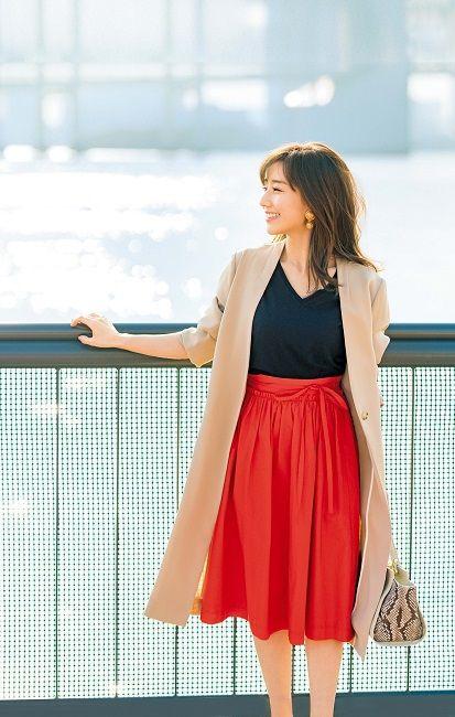赤スカートの田中みな実
