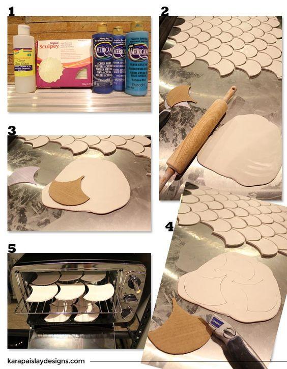 Idea decó: azulejos con forma de escamas de pez (y un DIY) · Fish scale tiles…