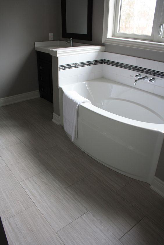 Gray Bathroom Tiles Bathroom Flooring Bathtubs Bathroom Flooring Tiles