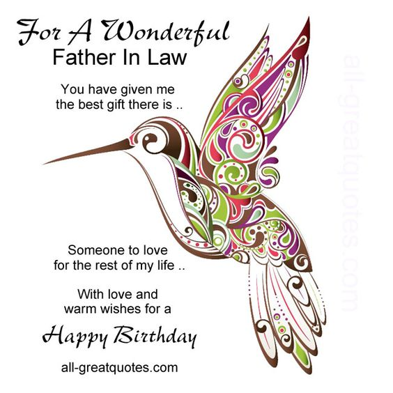 Father in law you have given me the best gift there is httpwww father in law you have given me the best gift there is httpall greatquotes birthday shenanigans pinterest free birthday card bookmarktalkfo Choice Image