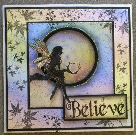 Featuring Lavinia Stamps' Tree Goddess Luna SKU 524002 and Believe SKU 601144. Available at www.addictedtorubberstamps.com