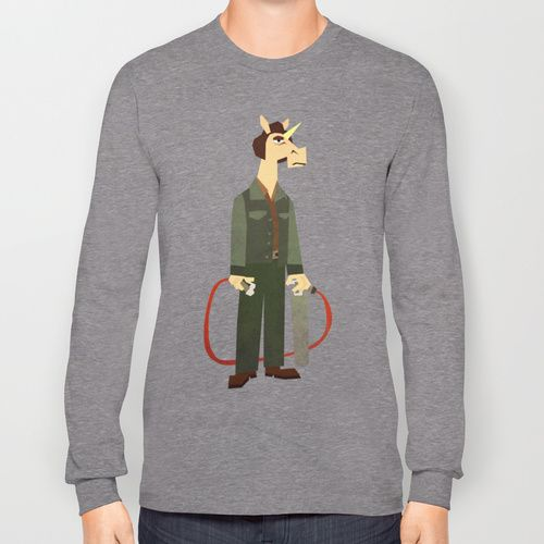 No Country for Old Unicorn Long Sleeve T-shirts by That's So Unicorny   Society6