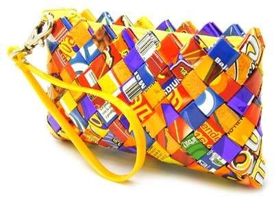Creative bags and candy wrappers on pinterest for Creative recycling projects