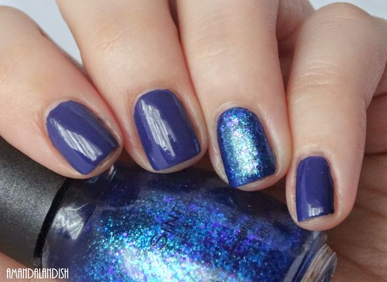 China Glaze Queen B with accent of Sinful Colors Super Star...