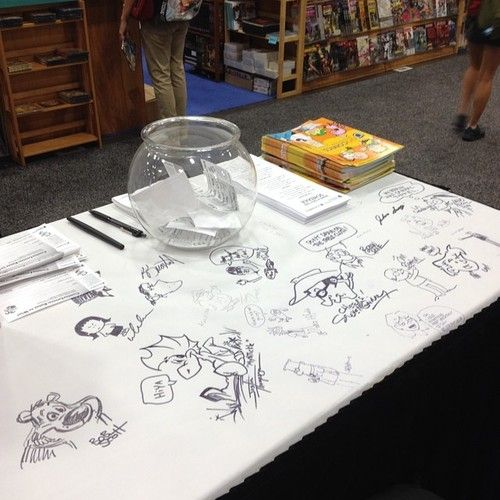 More #GoComics cartoonist doodles @ our booth! #sdcc #comiccon